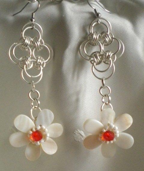 orecchini in fiore
