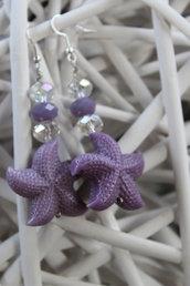 Orecchini stella marina lilla