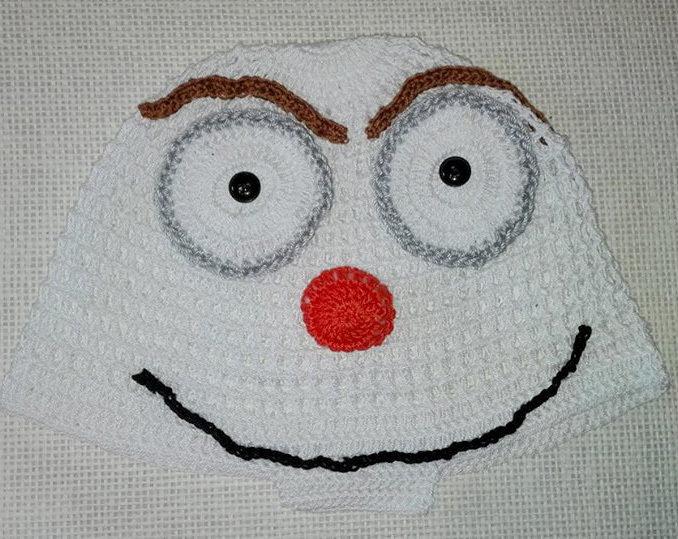 """Cappello uncinetto """"OLAF"""""""