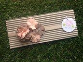 Fascia elastica per capelli a fiori by Little Rose Handmade