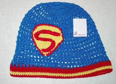 """Cappello uncinetto """"SUPERMAN"""""""