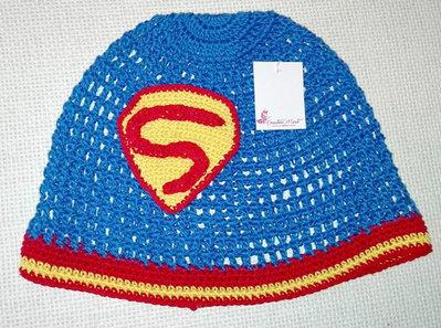 """Cappello uncinetto """"SUPERMAN"""" 12/18 mesi"""