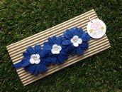 Fascia elastica a fiori per capelli by Little Rose Handmade