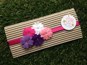 Fascia elastica a fiorellini by Little Rose Handmade