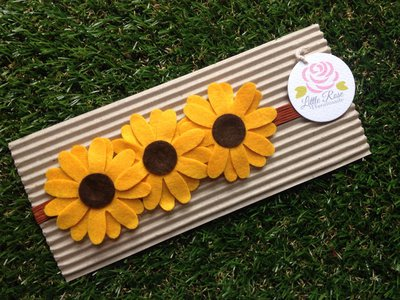 Fascia elastica a tre girasoli by Little Rose Handmade