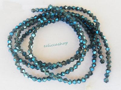Perlina bicono semicristallo 4 mm Blu oltremare 60 PZ