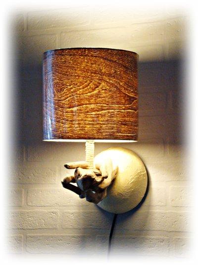 WALLLUX luce da muro con legni di mare