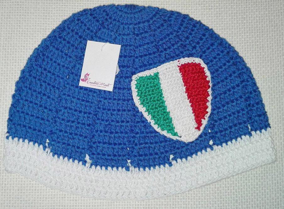 """Cappello Uncinetto """"ITALIA"""""""