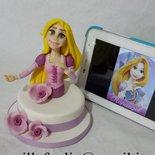 Cake Topper Principessa in Porcellana Fredda(anche Pasta di Zucchero su richiesta)