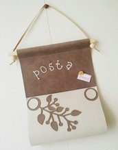 PORTA POSTA MARRONE/PANNA