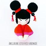 Noriko Bambolina Kokeshi Doll Amigurumi