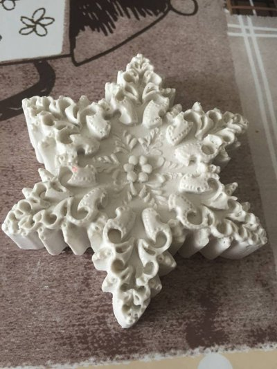 Fiocco di neve in gesso