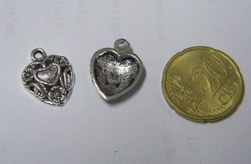 Charm argento cuore