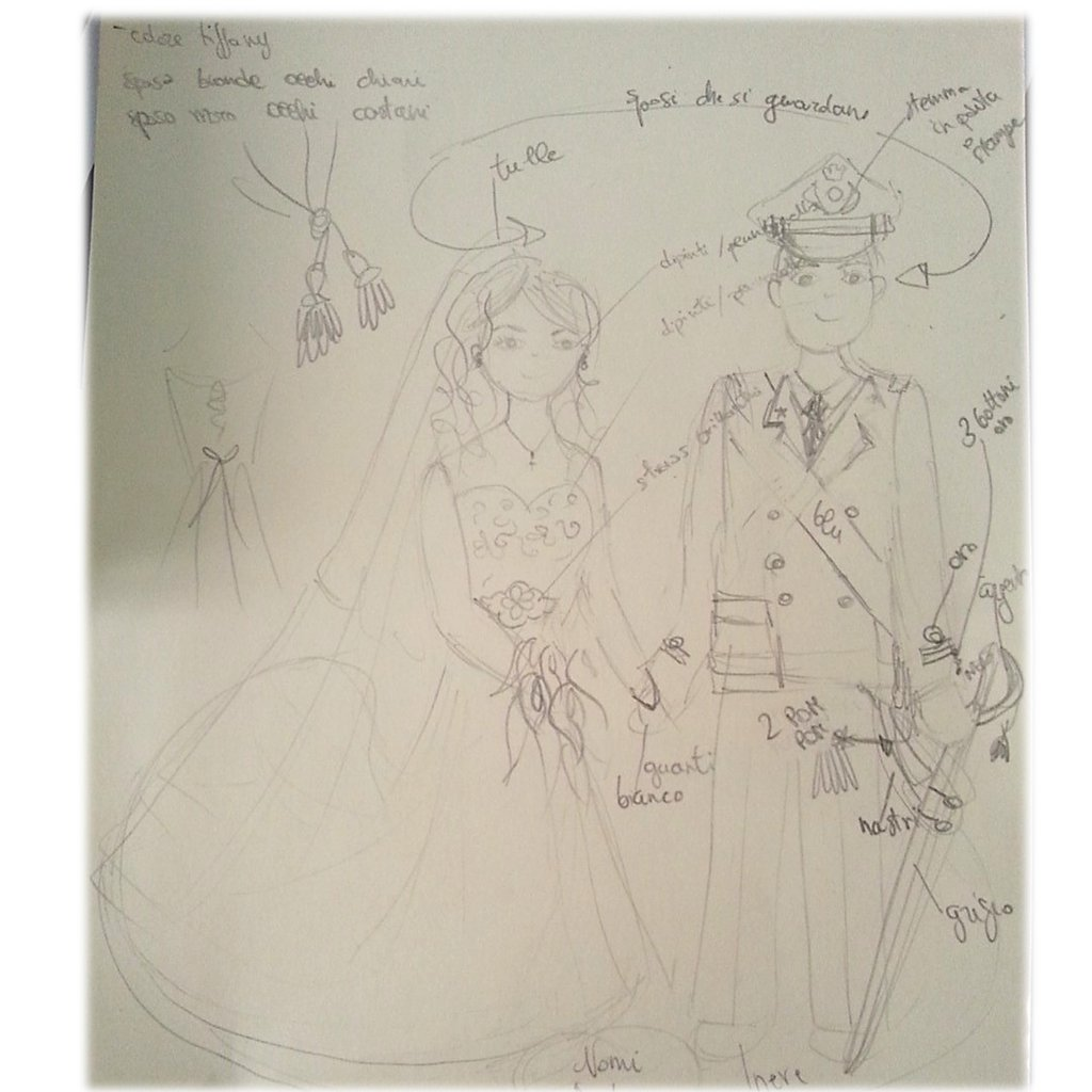 Riservata- Cake topper divisa esercito- sposa abito ricamato