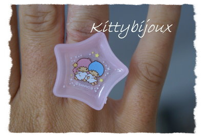 Anello Little twin stars pink