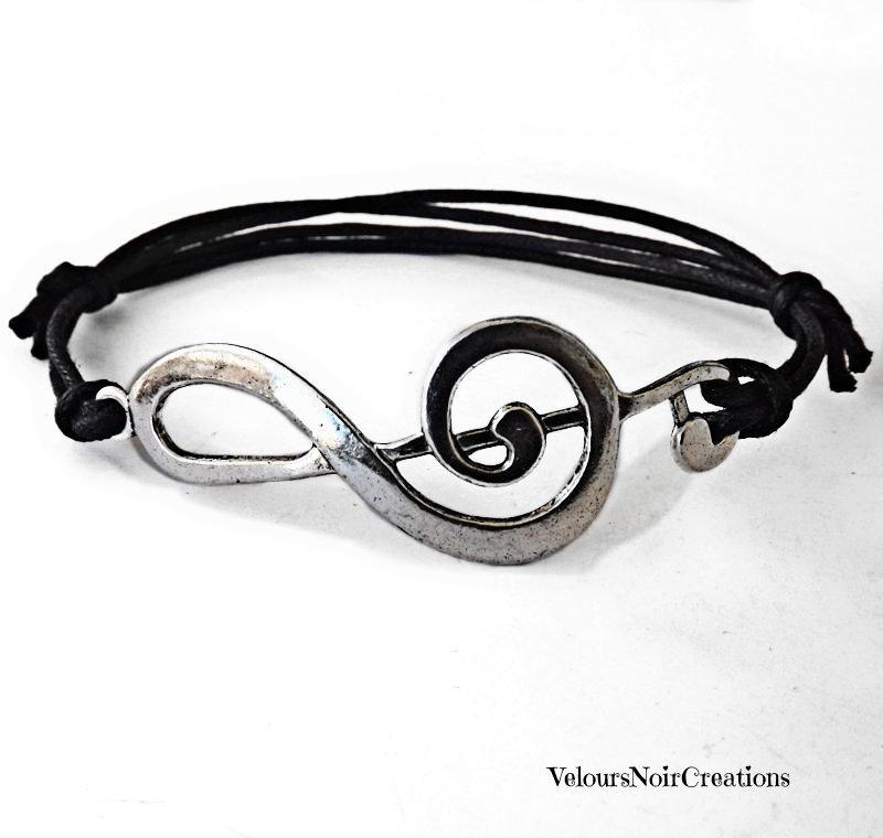 Bracciale chiave di violino argento tibetano