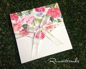 Partecipazione di nozze Primaverale Modello Ischia by Romanticards