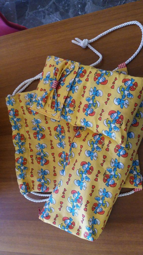 Set bambini zainetto +porta pannolini +beauty