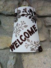 """Tegola Fuori-Porta """"Welcome"""""""