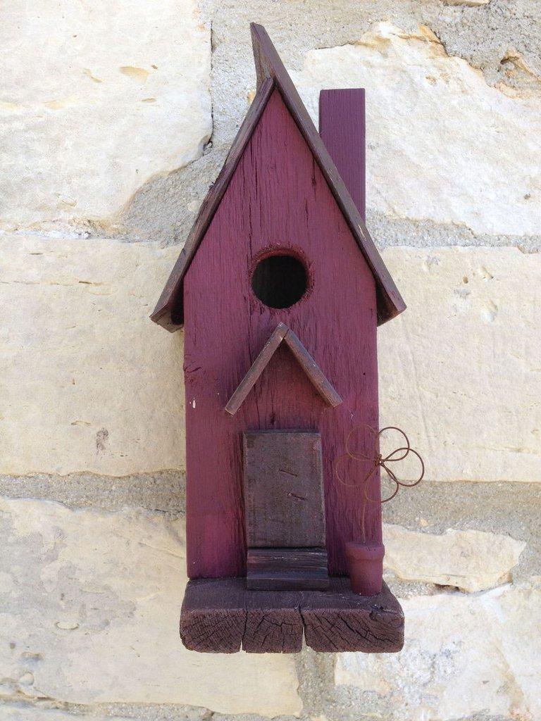 casetta per uccelli in legno -MELOGRANO-