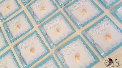 Invito card battesimo piedini bimbo