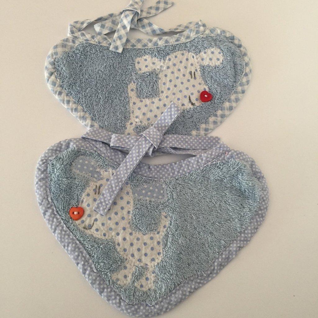 bavaglini azzurro modello neonato