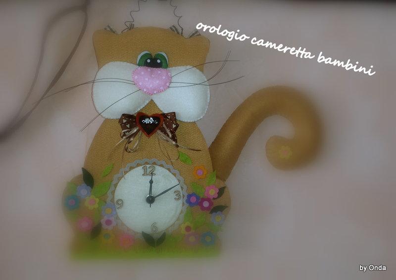 orologio a forma di gatto