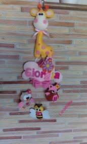 """Fiocco nascita """"La Giraffa ed i suoi amici"""""""