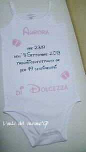 Body personalizzabili bimbo/bimba neonato con scritte e disegni!
