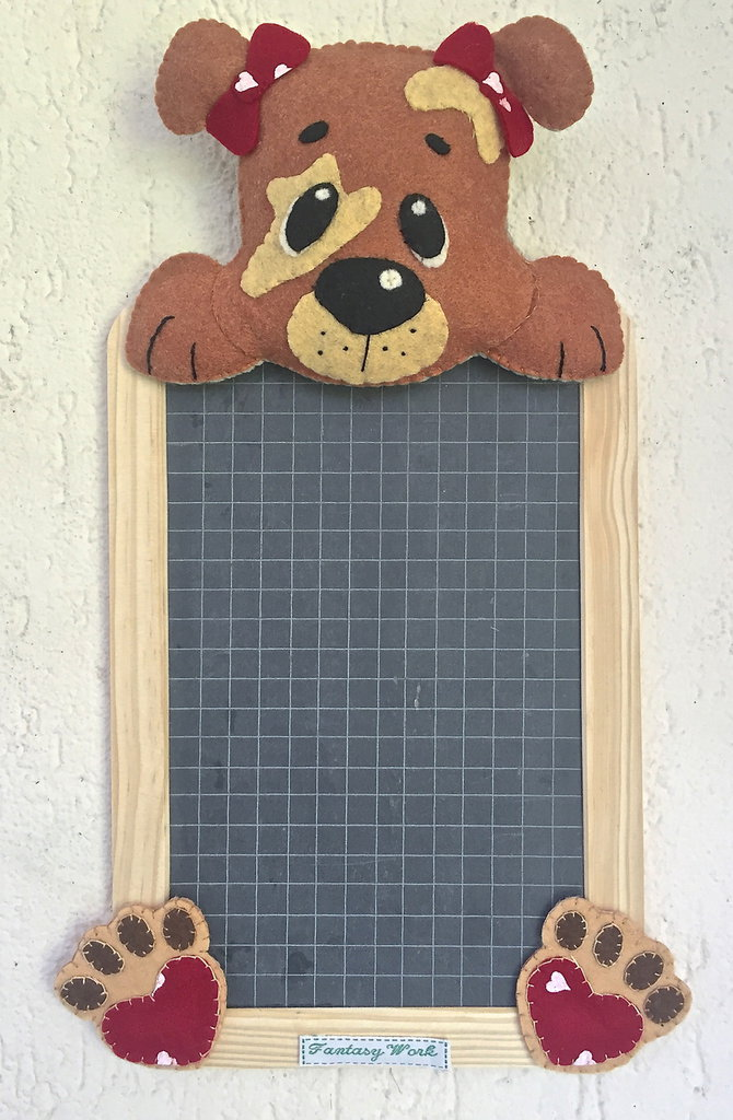 Lavagna in ardesia con cagnolino per la casa e per te decorare su misshobby - Lavagnette da cucina ...