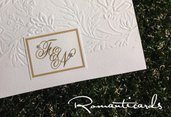 Partecipazione di Matrimonio con rilievo Modello Firenze by Romanticards