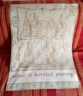 "Canovaccio ""Wine is bottled poetry"""