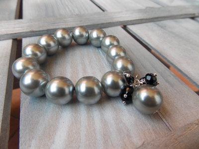 Bracciale grigio perla