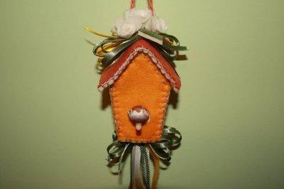 Casetta con uccellino in feltro