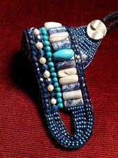 Bracciale con perline e pietre dure