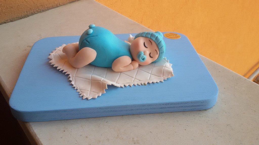 Topper cake battesimo
