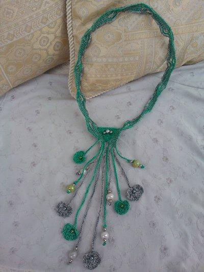 Collana Ad Uncinetto Con Frange E Perline Gioielli Collane Di