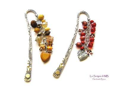 Segnalibri charms di perle colorate in vetro
