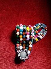 Bracciale con pietre dure multicolore