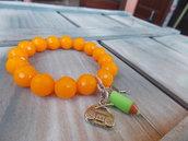 Bracciale arancio fluo