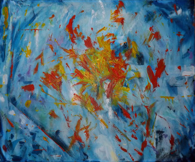 Quadro dipinto astratto moderno acrilico dipinto a mano arredo