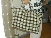 Maxibag in tweed marrone