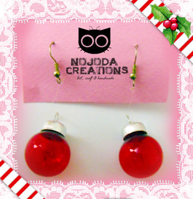 Orecchini Natalizi // Xmas Ball Earrings