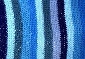 Copertina nascita neonato strisce tonalità del blu
