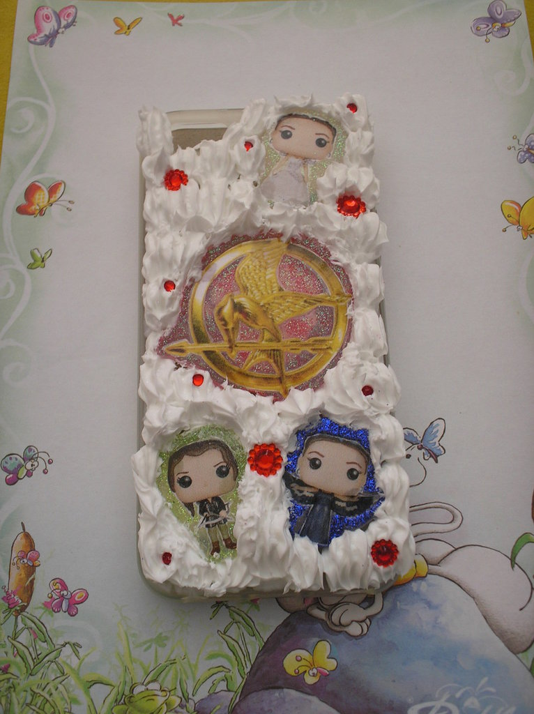 Cover in silicone per IPhone 5/5s tema Hunger Games