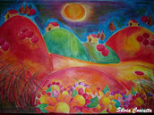 """""""Primavera di colori"""" Tela (100x120cm)"""