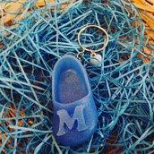 Portachiave scarpina in resina