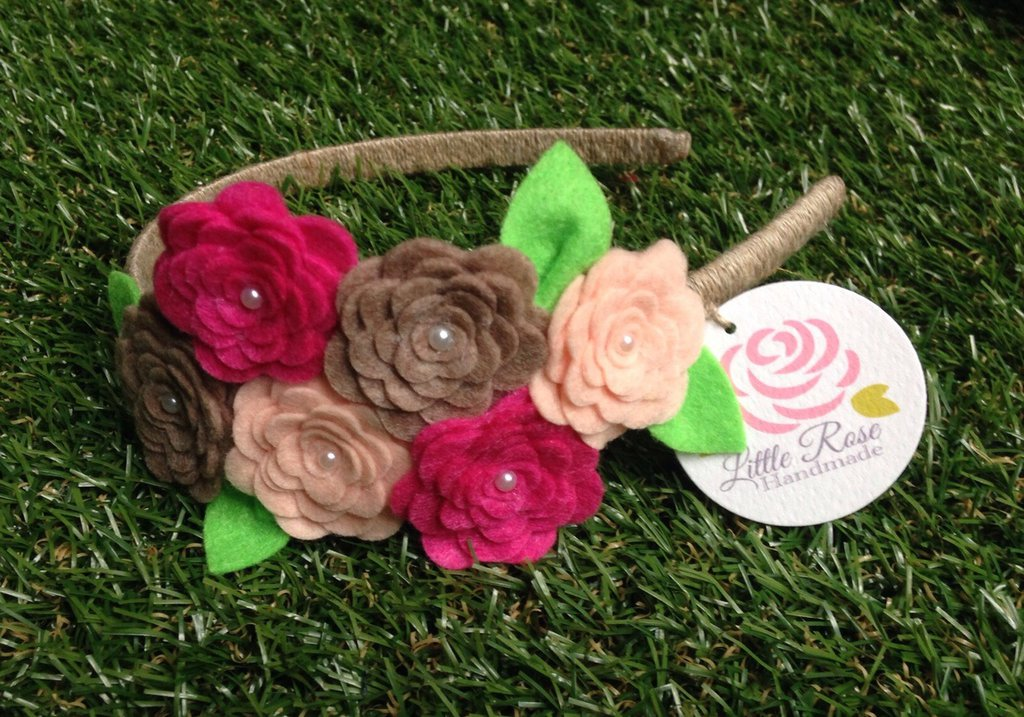 Cerchietto a Little Rose Handmade by Little Rose Handmade