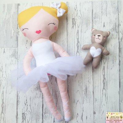 n. 1 bimbalotte ballerina capelli biondi -  colore tutù a scelta