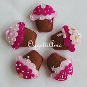 Set di 20 dolcetti in pannolenci: deliziose calamite realizzate a mano come bomboniera o gadget di compleanno!